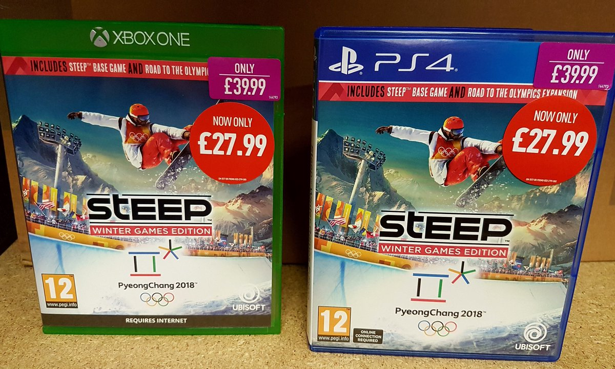 Get into the Winter Olympics spirit with Steep Winter Olympics edition on PS4 and Xbox One. Don't forget to bring in your old games to trade in! https://t.co/1ZEvpH7h2F