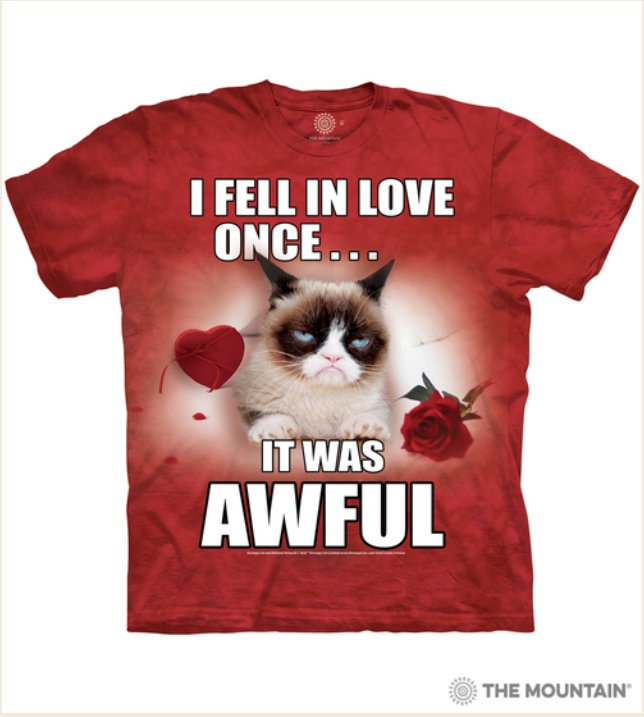 I just ordered this awfully terrible @RealGrumpyCat Valentines shirt! I ❤❤❤❤❤❤❤❤😾 #TeamGrumpy