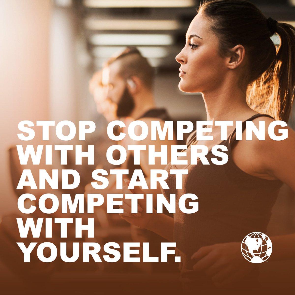 """"""" توقف عن منافسة الآخرين، وابدأ بمنافسة نفسك."""" دائما التركيز مع الذات يوصلك لمراحل ما تتوقعها! • شاركونا آخر شيء صعب تجاوزتوه 💪 https://t.co/MkTvU1LVza"""