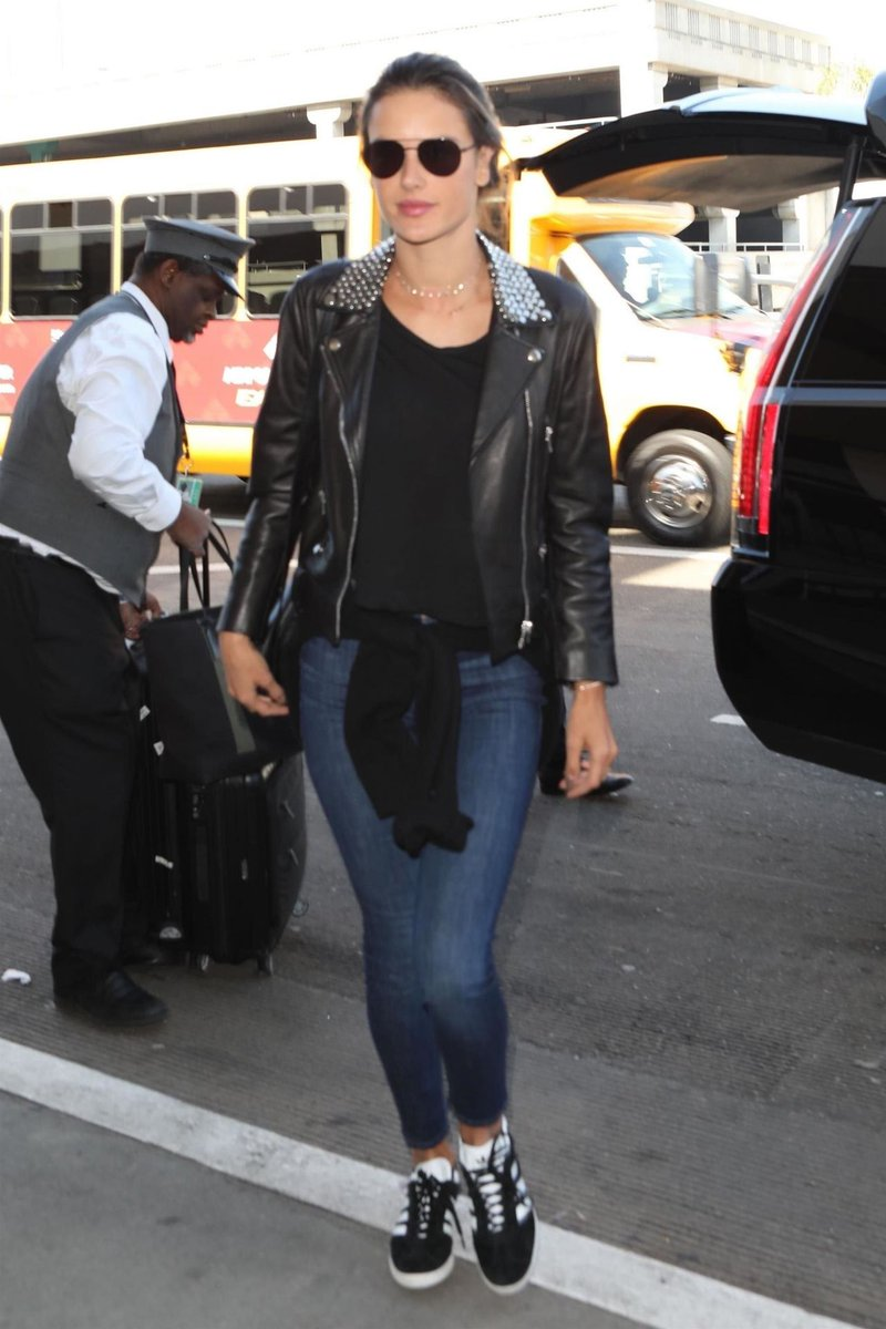 c163a5bbbccc3 ... LAX rocking this Nour Hammour Temple Jacket http   coolspotters.com models alessandra-ambrosio and clothing nour-hammour-temple-jacket medium-4594326  …