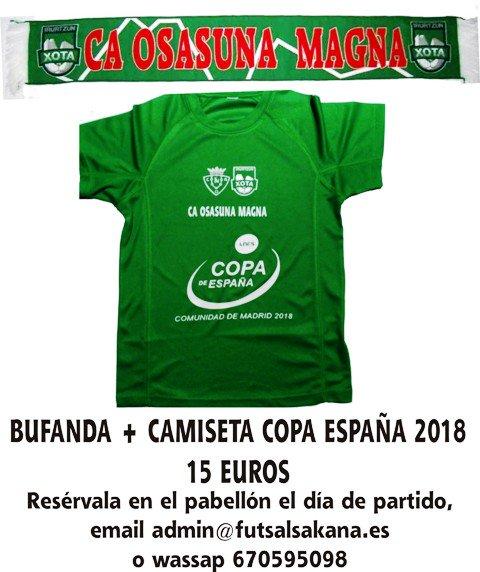 ... sola 10€. http   deportesnavarra.es es productos-oficiales-cd-xota -fs 619-kit-bufanda-camiseta-copa-espana-2018.html  …pic.twitter.com PYvOmuh4N3 c88f0eb9dddce