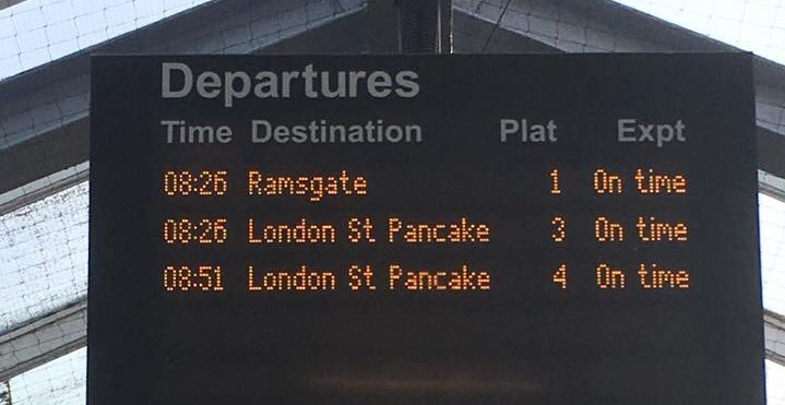Well played trains 👏🏻 #pancakeday https:...
