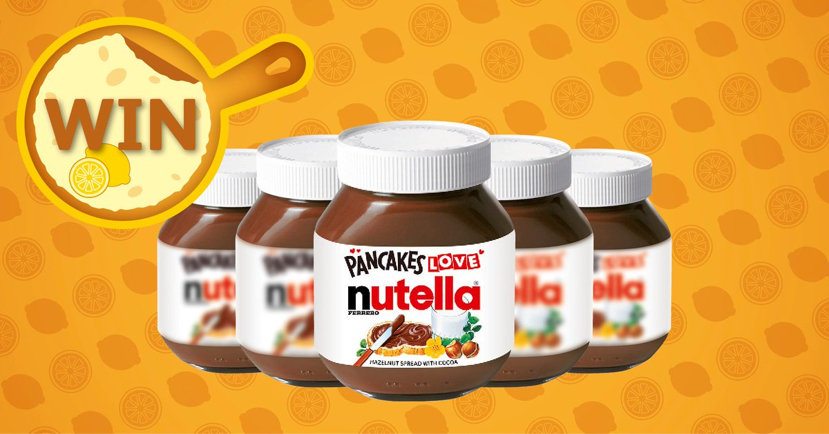 Were sharing the #PancakeDay2018 LOVE by giving you the chance to #WIN 1 of 12 750g jars of @nutellaUK! Simply RT & Follow @myLondis to enter! 🥞