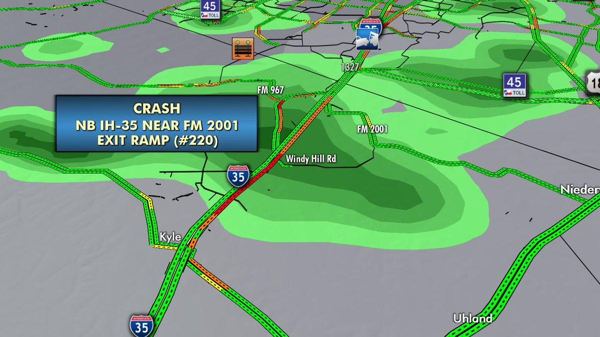 Kxan Traffic Map.Kxan News On Twitter Hayscotraffic Update Crash On Nb I 35 Near