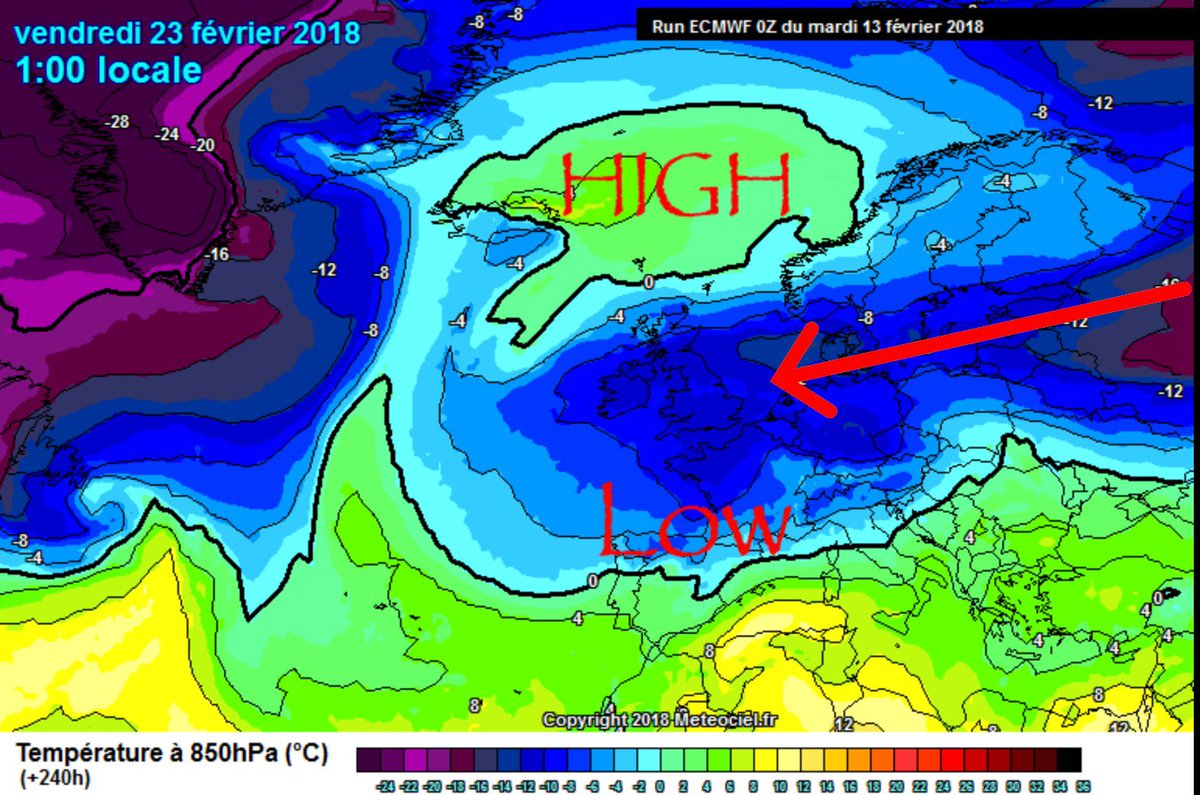 Weather Meteo World På Twitter Bitterly Cold Ecmwf For