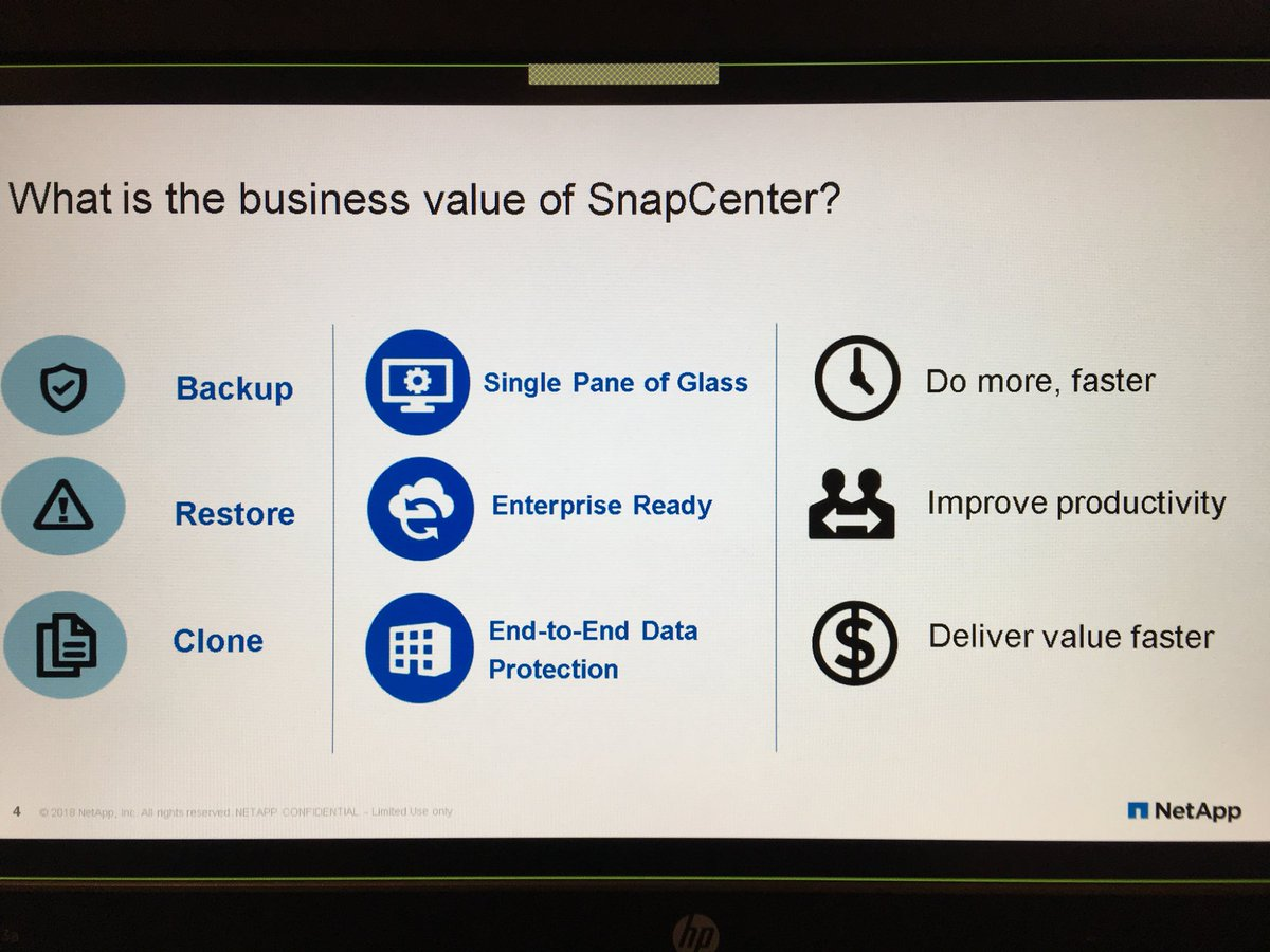 Getting an update and hands on today  session with #NetApp #SnapCenter4.0 thanks to @NetAppUK