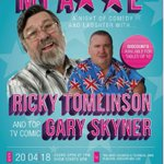Image for the Tweet beginning: An evening with Ricky Tomlinson