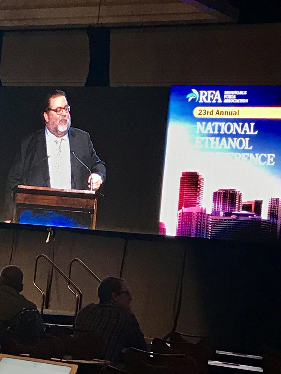 .@EthanolRFA's Bob Dinneen kicking off #RFANEC18 describing a record year for #ethanol in terms of feed and fuel production, consumption; GHG reductions; exports; oil import displacement and more!!! #EthanolStrong #Homegrown<br>http://pic.twitter.com/GVIDZMBtQt