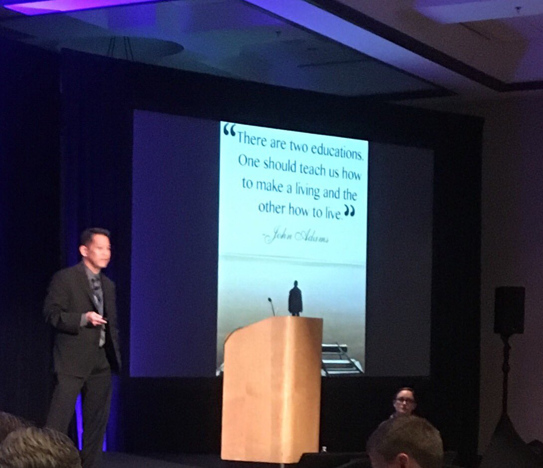 What do I want my kids to be when they grow up?  Happy and healthy.  Let's cultivate that in school. Thank you @davidmiyashiro for an inspiring talk on happiness.  #NCDC18 #DigitalConvergence<br>http://pic.twitter.com/JGyW93Xaqr