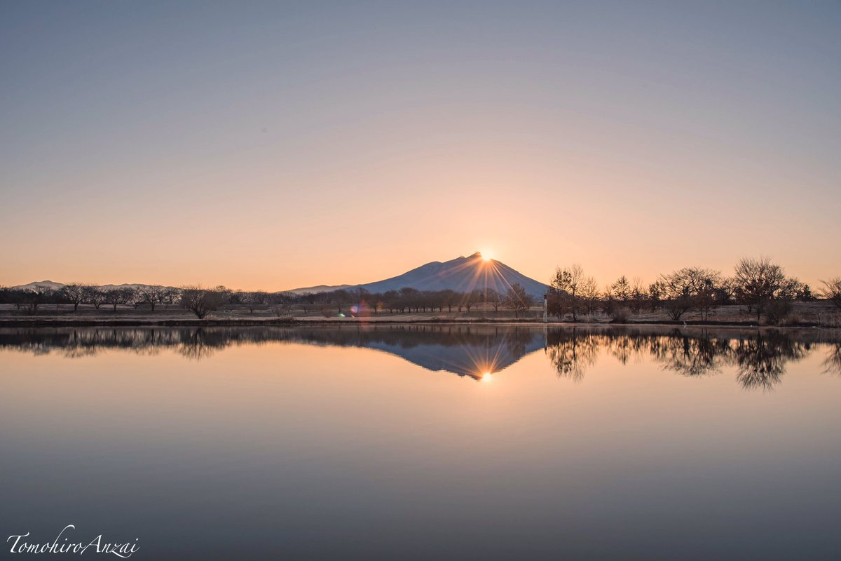 明日の朝は筑西市の母小島遊水地でダイヤモンド筑波が見れるらしいよ❗️