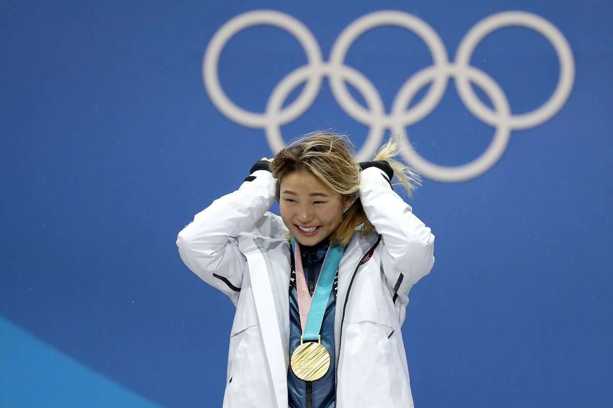 Chloe Kim at the #MedalPlaza #PyeongChan...