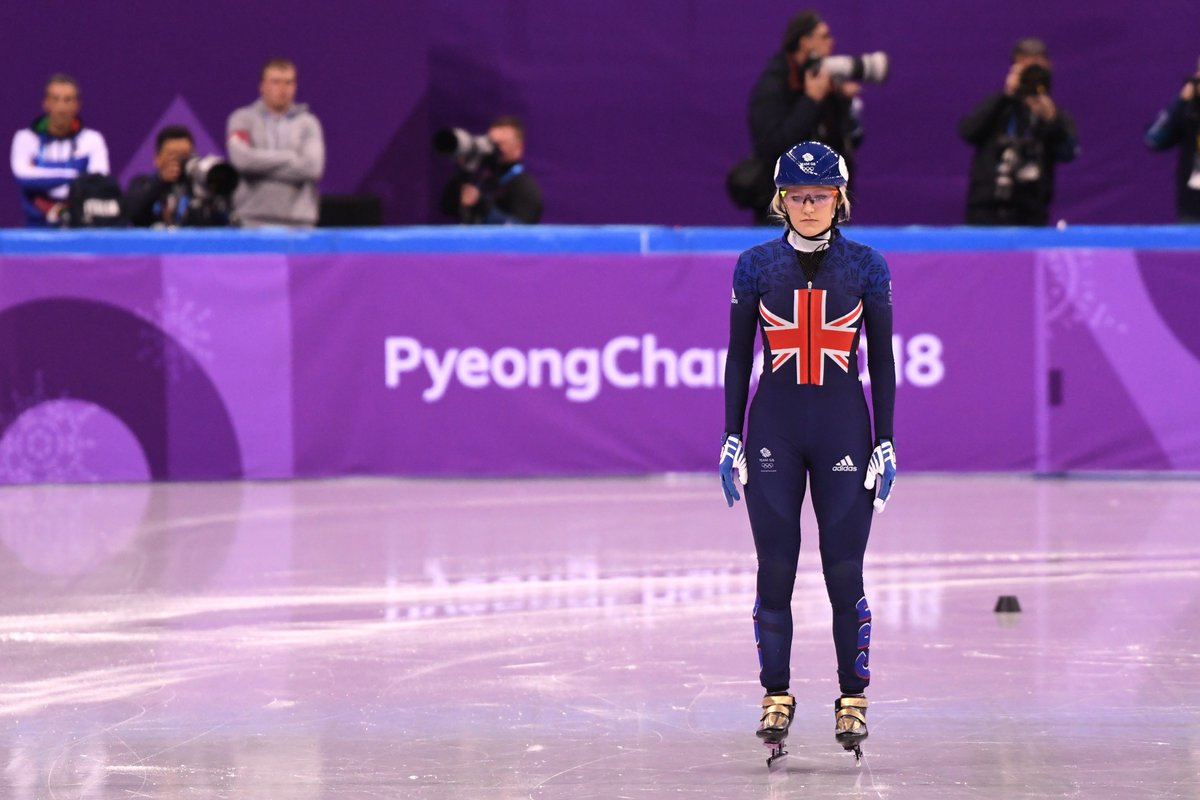 An unlucky fourth place for @Elise_Christie as she misses out on a medal after falling in a dramatic 500m final. #WeAreTheGreat