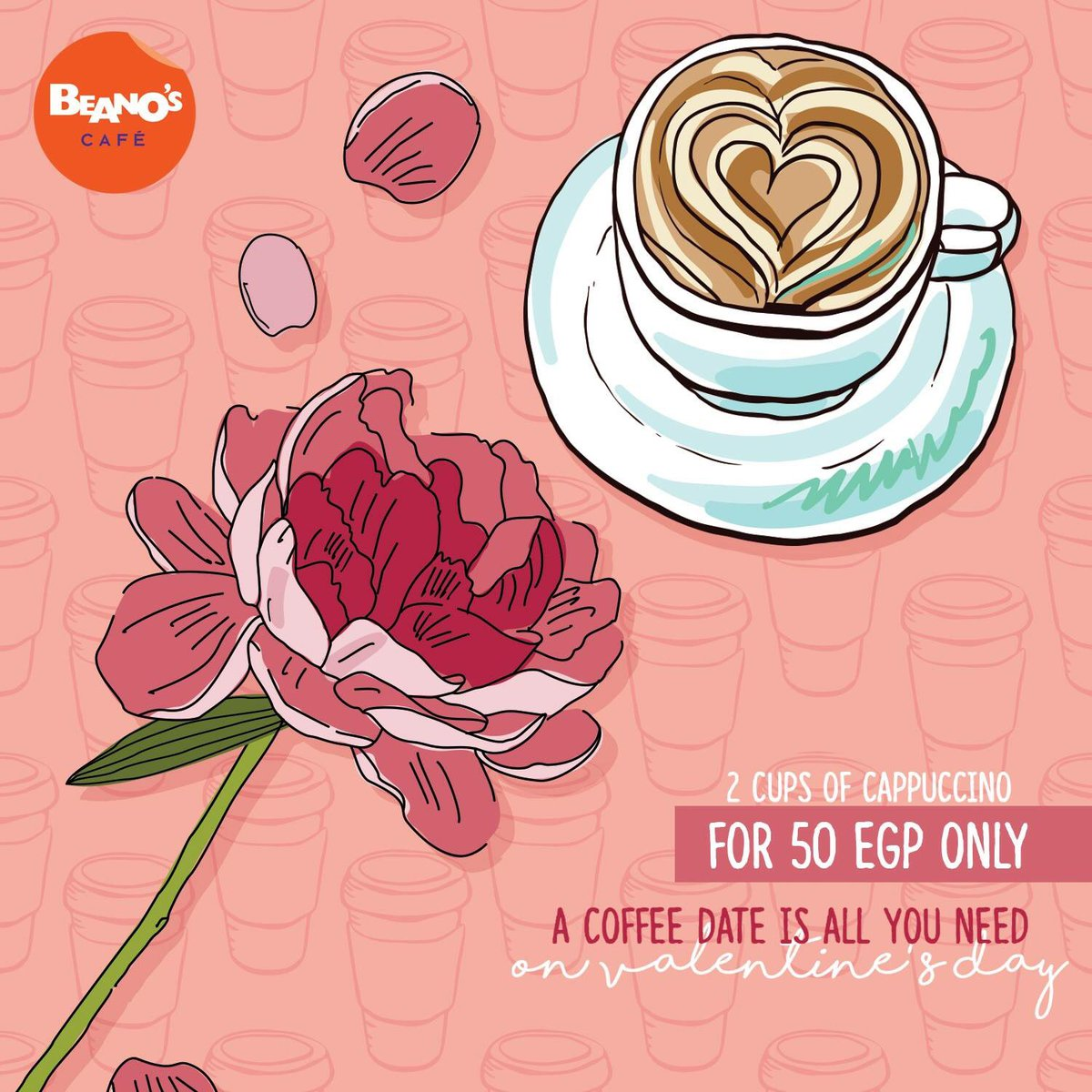 If you want fill your heart with Coffee on Valentine's day, we've made that easier with our Coffee date offer! Enjoy two cups of cappuccino for only 50 EGP, and enjoy them through out the whole day through keeping your receipt! Ready for some coffee talk? https://t.co/krbc7mjV6D