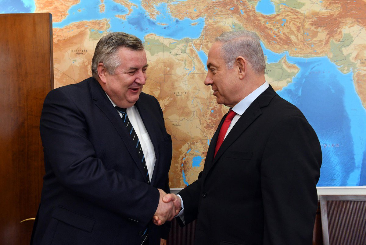 Prime Minister Benjamin Netanyahu met with Hungarian PM Viktor Orbans security policy and foreign policy advisor, Jozsef Czukor. The meeting follows PM Netanyahus participation in the Visegrad Group summit on July 2017 in Budapest, where he offered to host the summit in Israel.