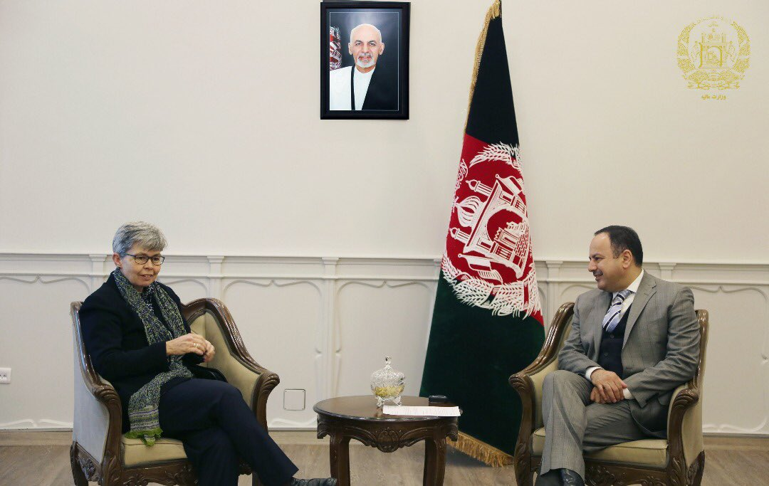 It was my pleasure to welcome H.E. Nicola Gordon-Smith, newly appointed ambassador of Australia to Afghanistan, and discuss with financial reforms, upcoming parliamentary elections, strategic plan for customs reforms and  Brussels Conference Follow Up meeting in Geneva.