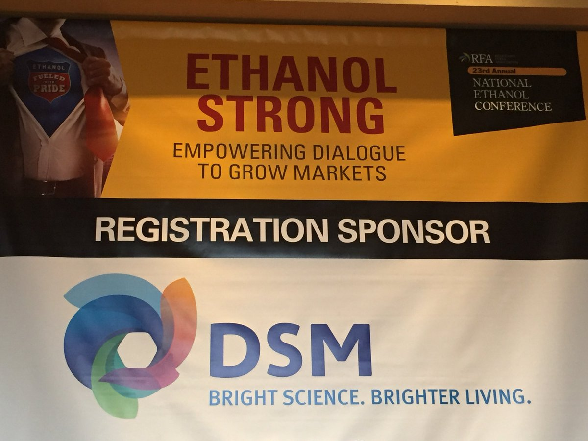 Happy to sponsor #RFANEC18 and have opportunity to meet the industry to explain our great @DSM yeast and enzyme offerings for starch, fiber and biomass conversion<br>http://pic.twitter.com/a6s09Z9sfK