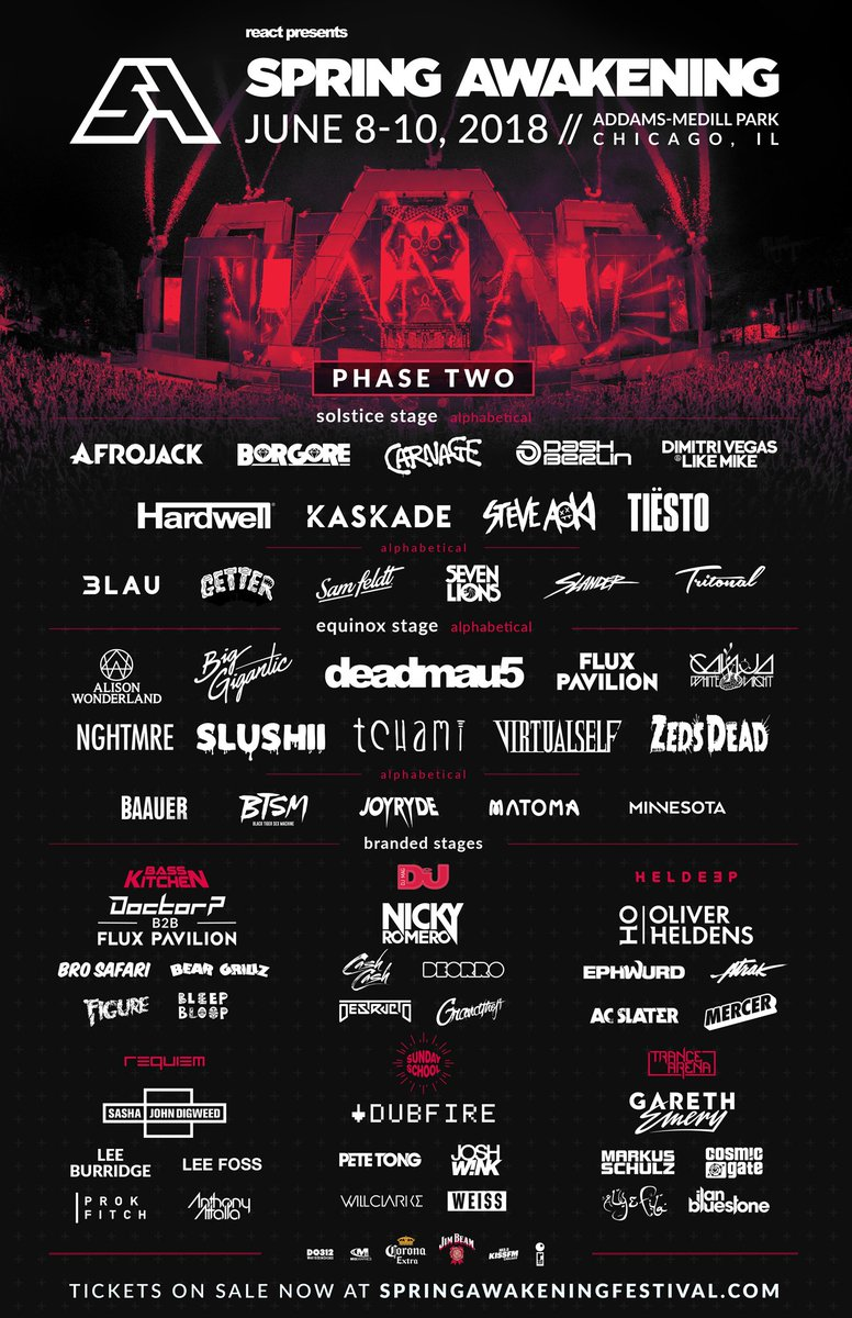 Spring Awakening's monstrous phase two line-up is a who's who of dance musicDV74 RGAETpbs