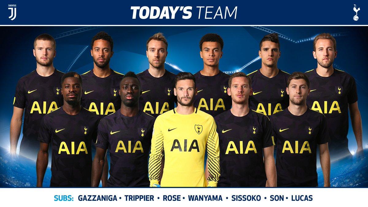 #THFC: Lloris (C), Aurier, Sanchez, Vertonghen, Davies, Dier, Dembele, Eriksen, Dele, Lamela, Kane. #COYS