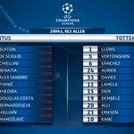 #JuveTOT #UCL #LdC – Compos officielles!  ❤️ pour la Juventus 🔃 si tu es fan de Tottenham