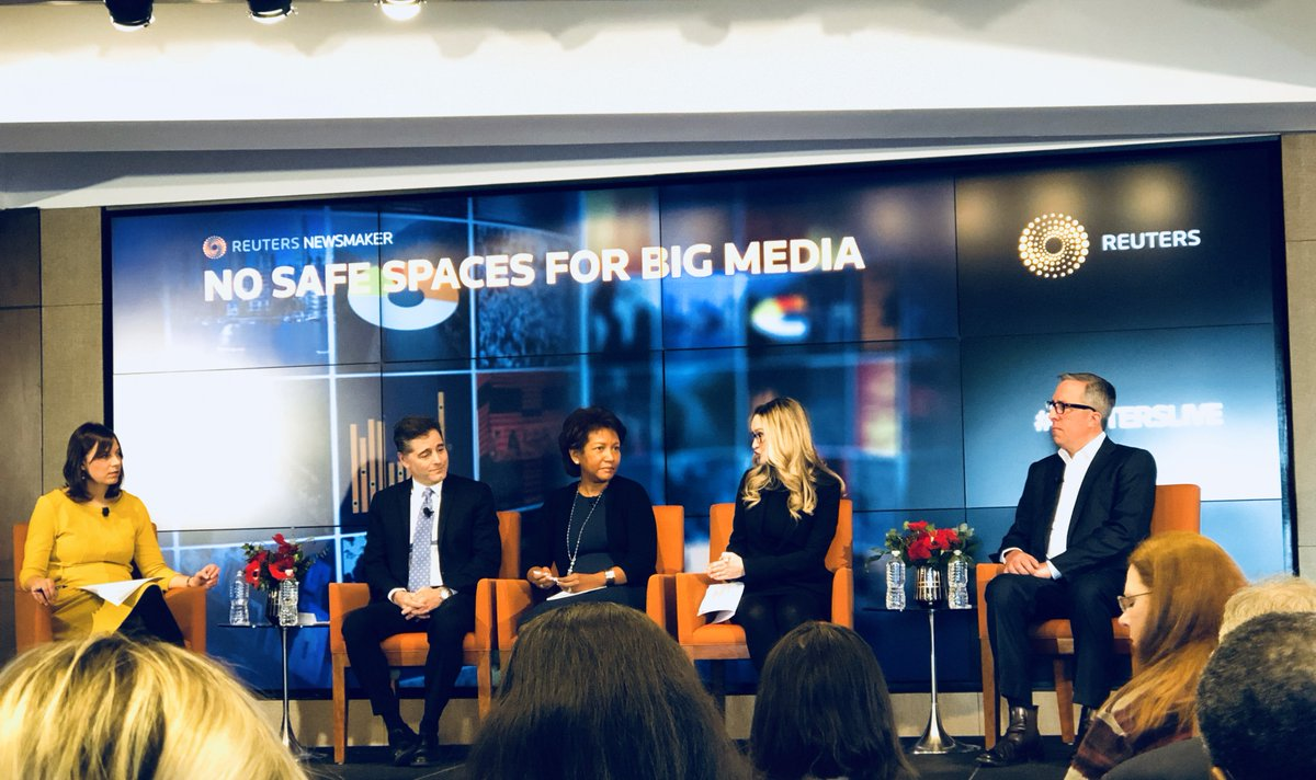 """Excited to be at the #ReutersLive Newsmakers disussion this morning on the rush to scale within Big Media: """"Go Big, Go Niche, or Get Out."""" <br>http://pic.twitter.com/xrvzoBK4tR"""