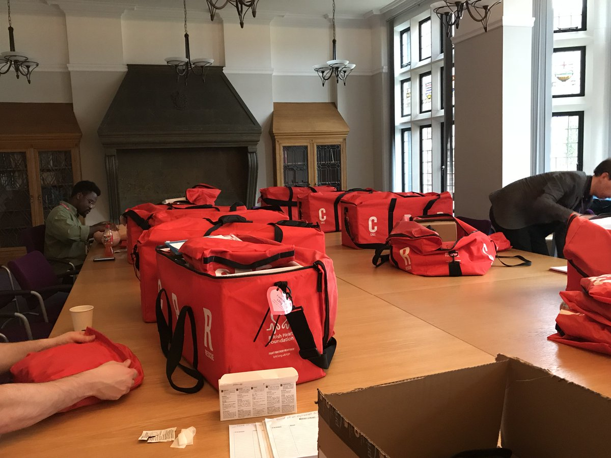 Weve been busy prepping 150 adult and infant mannequins ahead of #Heart2Heart, taking place tomorrow from 8am-8pm across campus 💕 Learn how to perform CPR for free - it only takes half an hour: bit.ly/2mTiML9