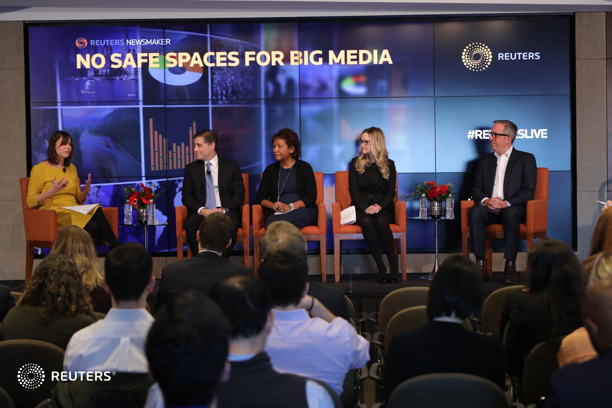 Thank you to all who joined and followed along for our  &quot;No Safe Spaces for Big Media&quot; Newsmaker this morning. #ReutersLive <br>http://pic.twitter.com/uJ3cnJjRK2