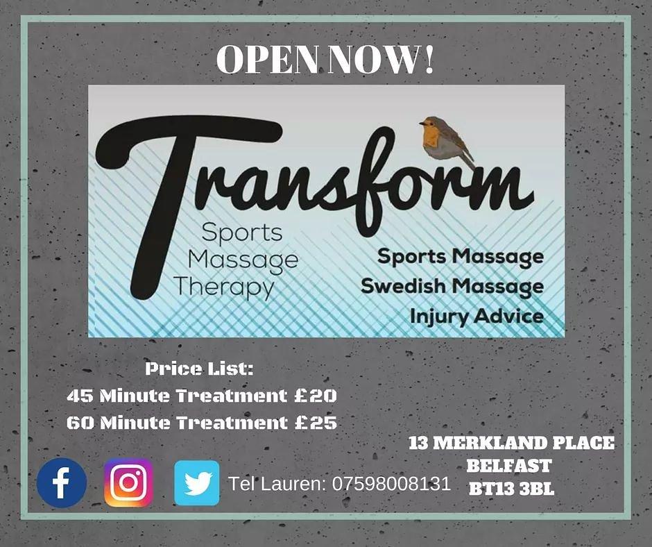 Transform Sports Massage Therapy (@SportsTransform) | Twitter