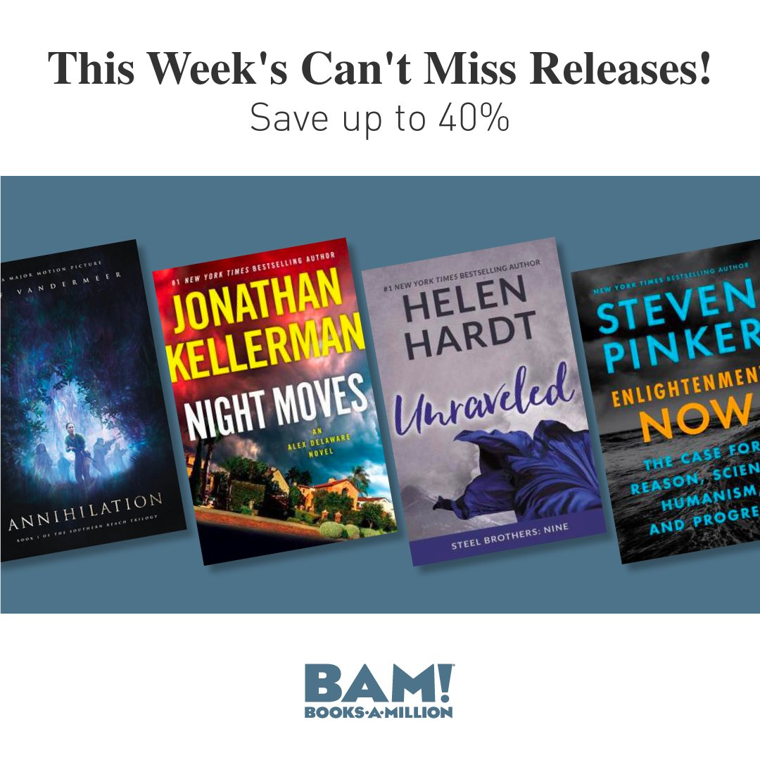 Dont miss these new releases up to 40% off at #BooksAMillion, including Kristin Hannahs The Great Alone and our Presidents Pick, How To Stop Time by Matt Haig! bit.ly/2EDnJCl