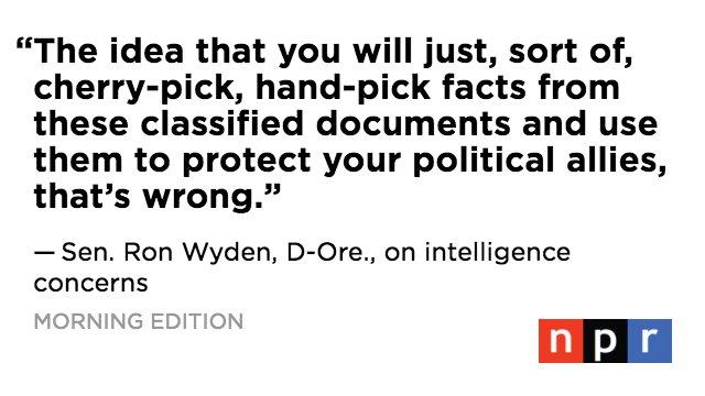 'It's my job to ask tough questions,' Sen. Ron Wyden, D-Ore., tells @NPRinskeep. https://t.co/496U9t8okZ