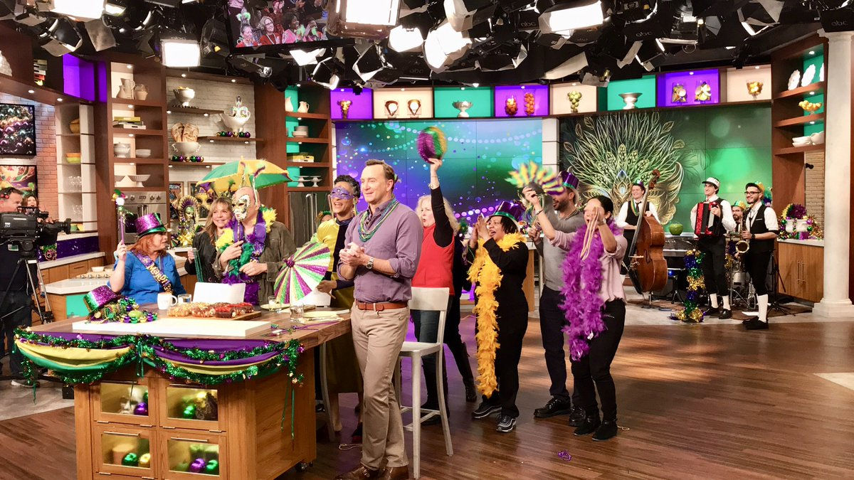 Happy #FatTuesday, yall! From New Orleans inspired hot dogs, to Beignets, weve got #MardiGras covered. Dont miss one heck of a party today on #TheChew!