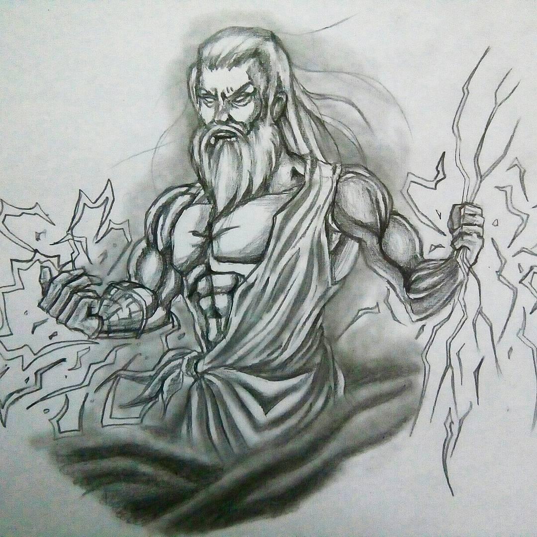 Картинки рисовать зевса
