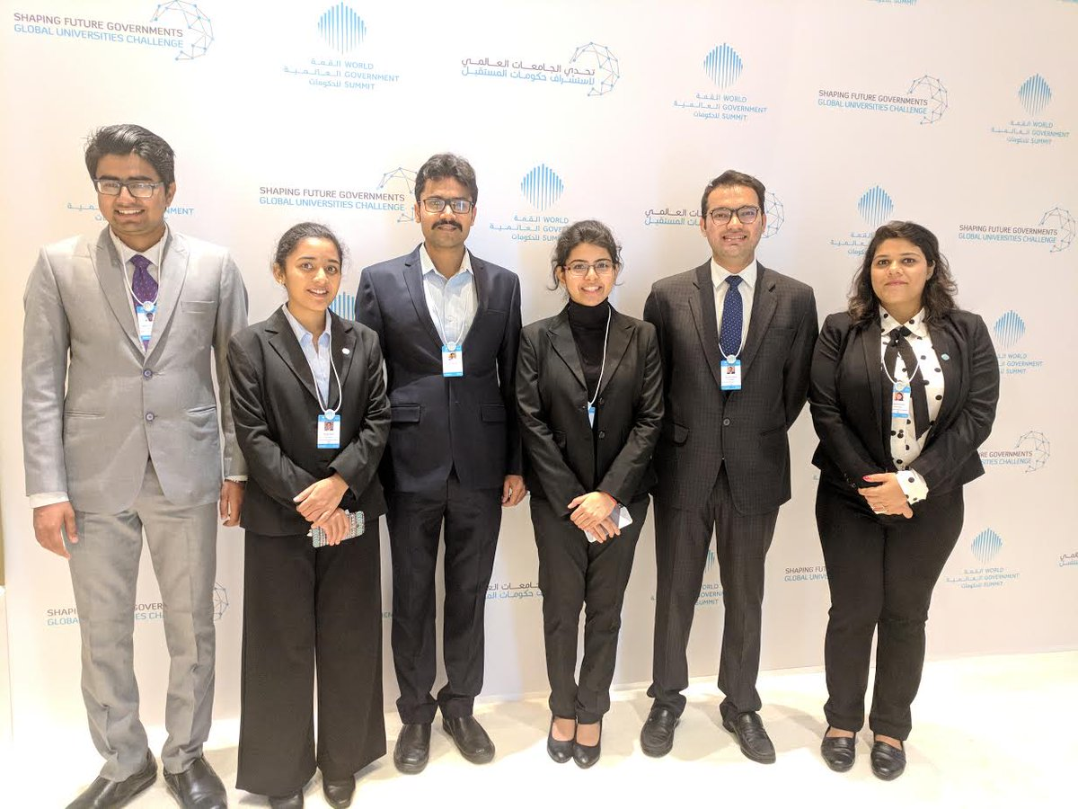 IIMA team presents paper at World Government Summit in Dubai on concluding day