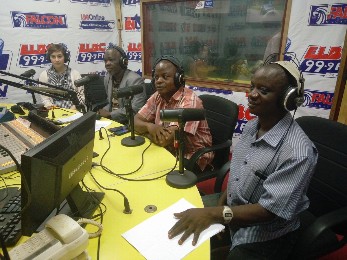 Remembering our @IFES1987 radio chat last year in #Liberia with election officials and a journalist with a visual disability on accessible elections! #WorldRadioDay