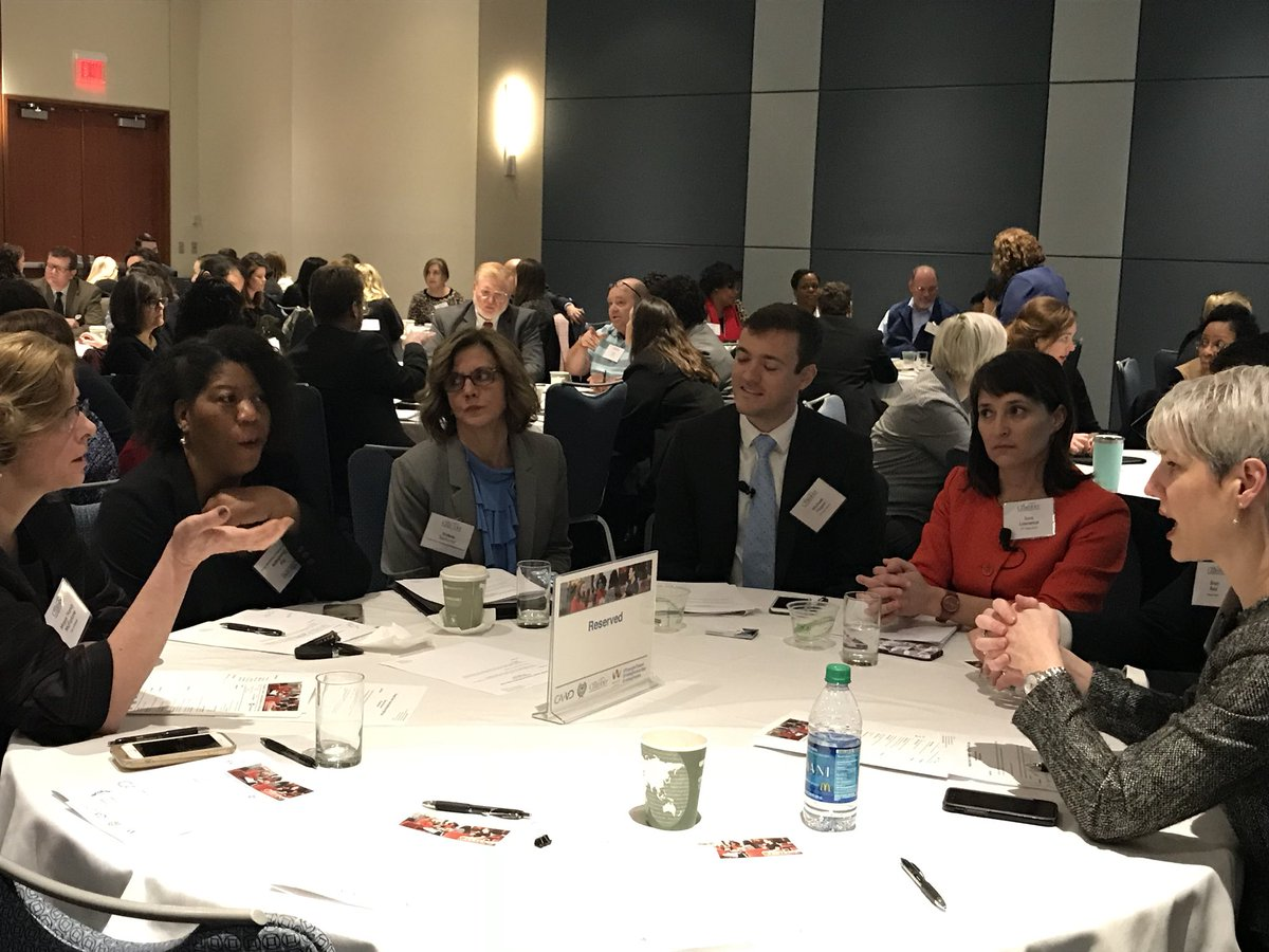 Our speakers didn't show up to just give remarks and leave... they are strategizing on improving our talent pipeline through enhanced partnership. #winning. #TriangleTalent @AColeGRCC @RTI_Intl @NancyMcFarlane @CapitalAreaWD @ParagonBankNC<br>http://pic.twitter.com/YkcQceXGvY
