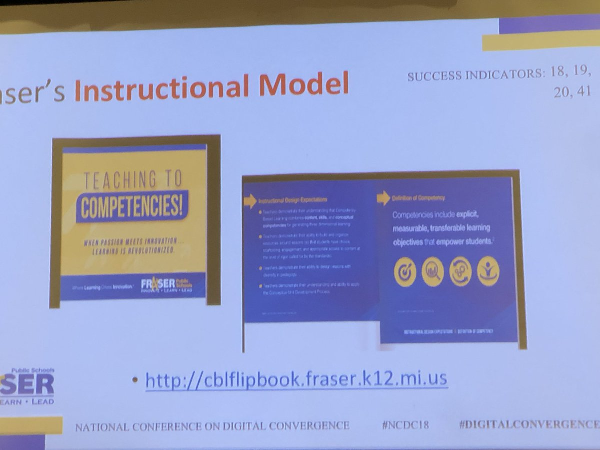 Exploring the Fraser Competency Based Framework #NCDC18 #DigitalConvergence<br>http://pic.twitter.com/L4aGo9arAf