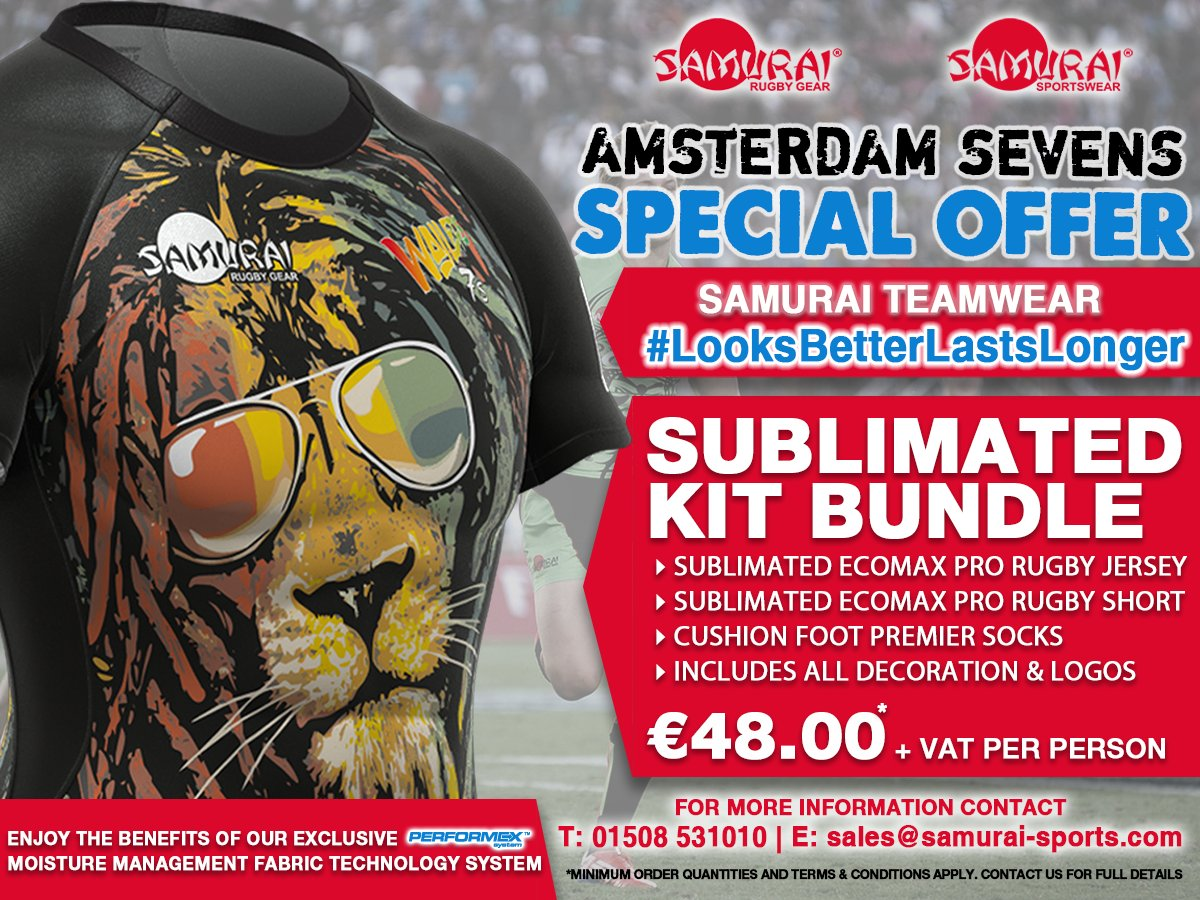 test Twitter Media - We have a Sublimated Kit Bundle for Just €48 especially for the Amsterdam Sevens Season! Order today by contacting a member of our team! @SevensAmsterdam #AMS7s #Sale https://t.co/VtbBlrEhSV