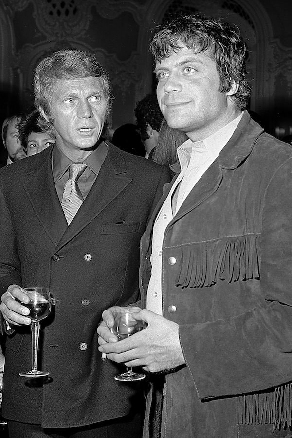 It's Oliver Reed's birthday. I'm rather partial to this pic of Steve McQueen looking in awe/confusion at Mr Reed.