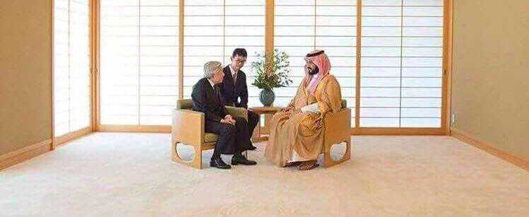 Saudi Crown prince arrived in Japan with 10 plain loads of staff, furniture & luxury goods for personal use. Japanese Emperor met him in this empty room, with simplest settings, giving a message to MBS that greatness lies in knowledge & higher values not in ugly display of wealth