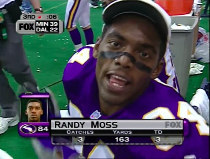 Happy birthday to that man Randy Moss!