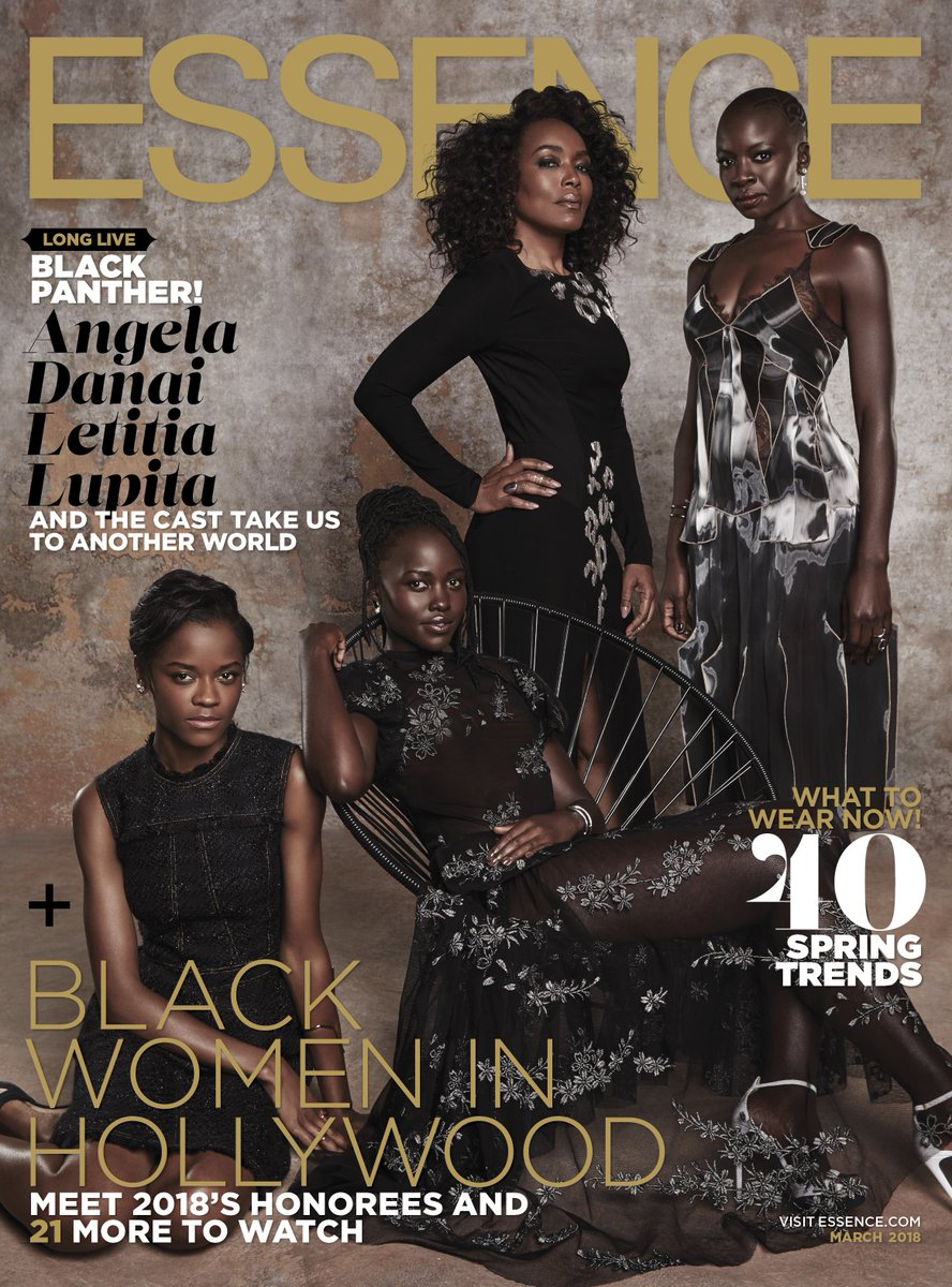 Wakanda FOURever. So special to have these women as co-stars and friends. @Essence #BlackPanther #WakandaForever essence.com/news/black-pan…