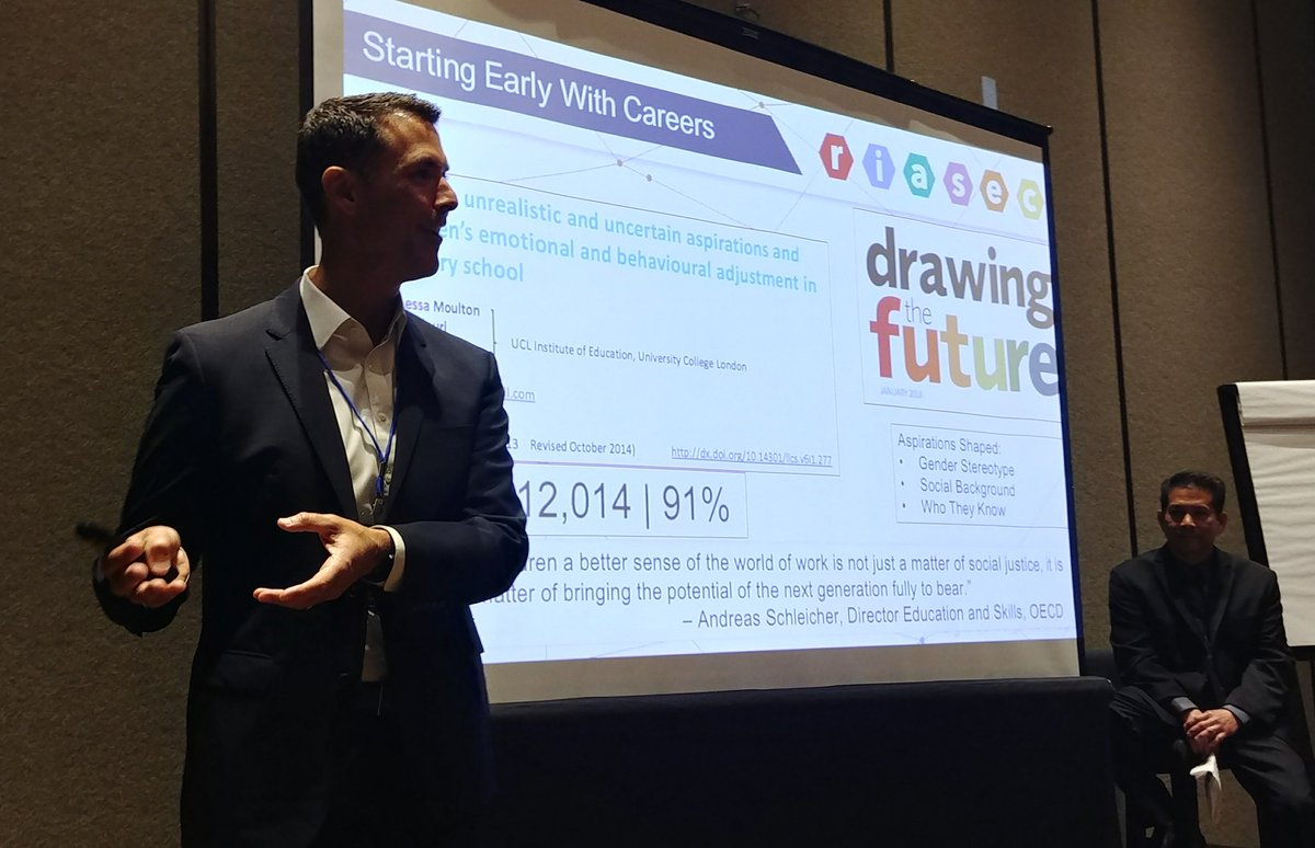 .@EdHidalgoSD challenges us to think about helping our students see their potential future self with #WorldofWork #NCDC18  @CajonValleyUSD<br>http://pic.twitter.com/teMsj2rtSc