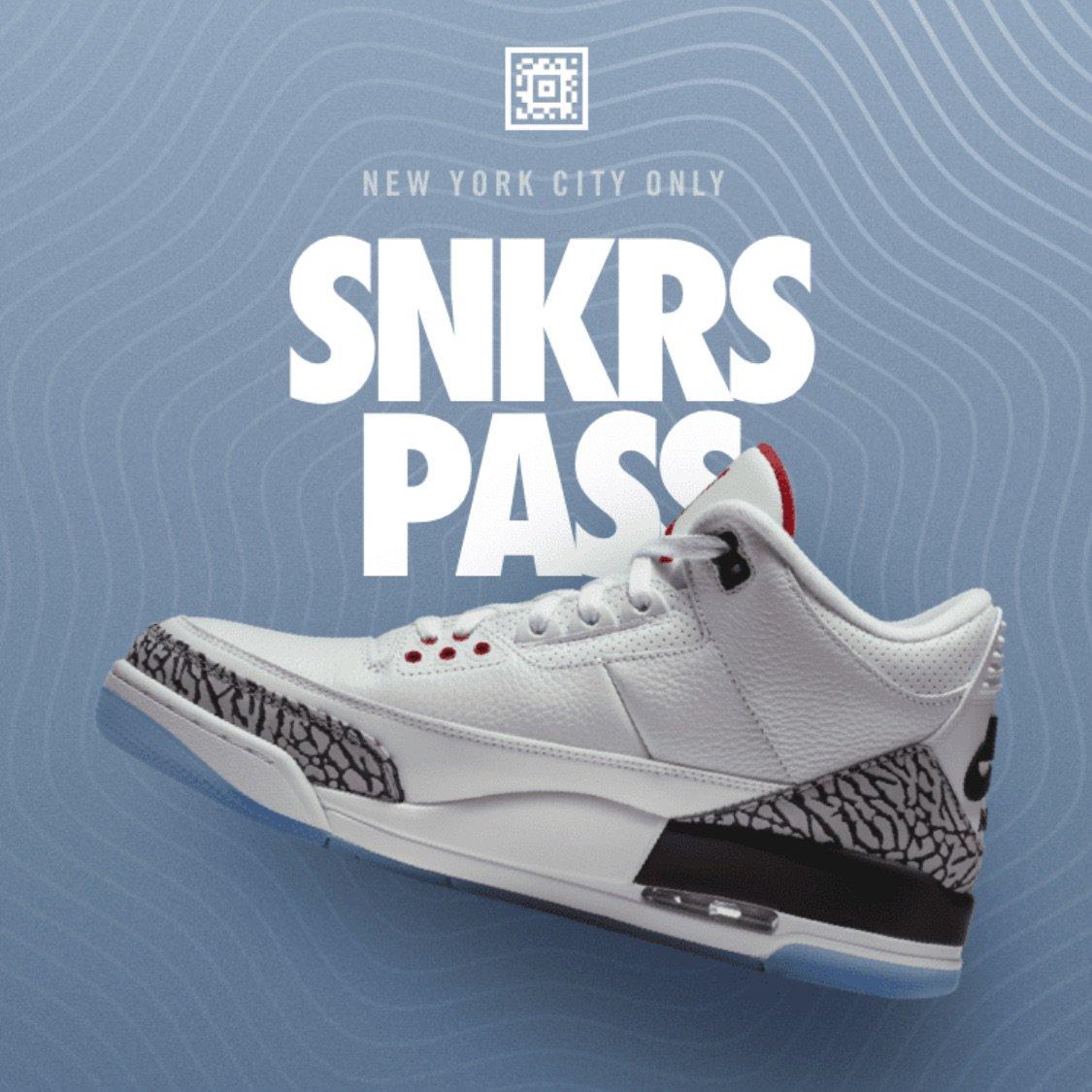"NYC SNKRS Pass: Jordan 3 Retro NRG ""Free..."