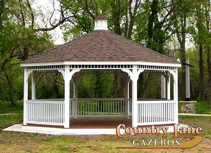 A 20 Octagon Vinyl Gazebo Could Accommodate To All Your Picnic Guests Livingspace Outside Summer Spring Outdoor CLGazebos
