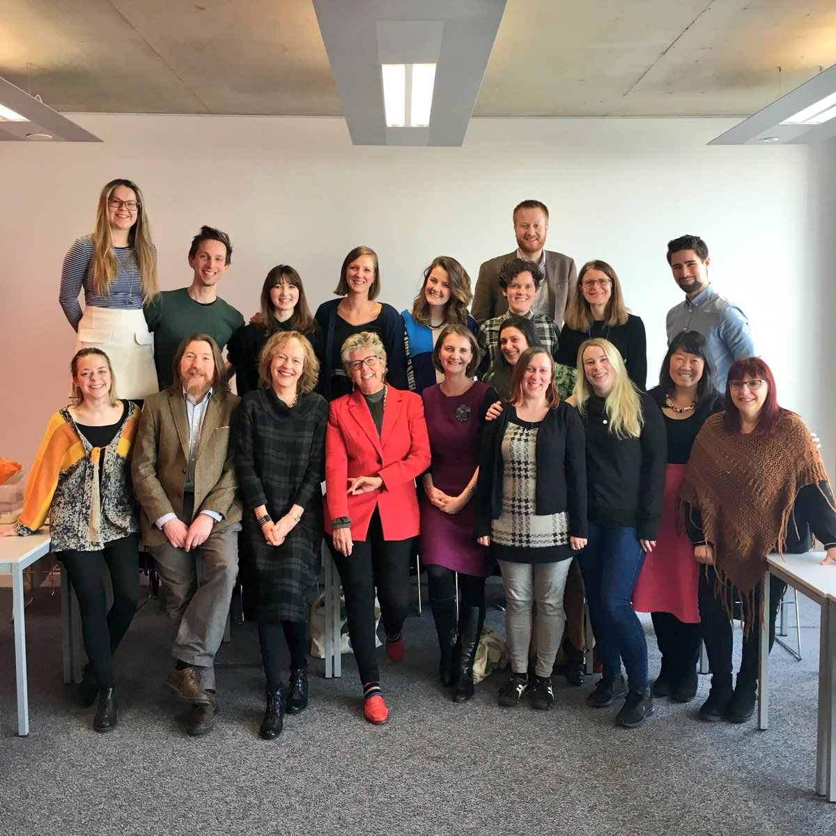 Great to spend the day with @QMUniversity Chancellor @PrueLeith talking about #foodcommunication and #foodeducation with the @QMUGastronomy students. #StudyFood #Gastronomy