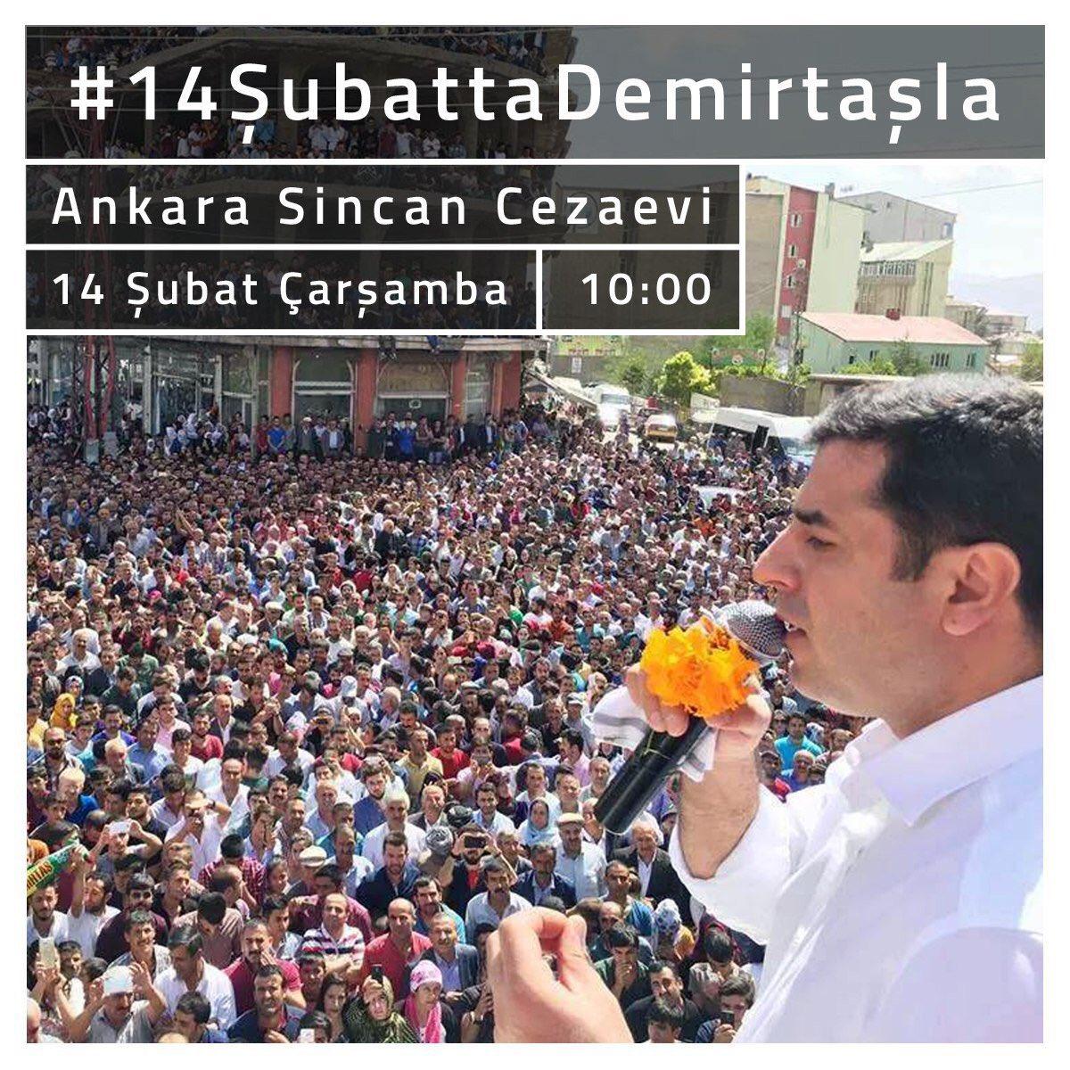 #14ŞubattaDemirtaşla 'yız https://t.co/5...
