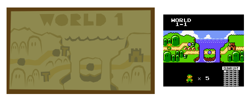 Paper Luigi On Twitter The World 1 Map On The Wall Of The Mario Bros House In The First Pages Of The Prologue Is A Reference To The World 1 Map From