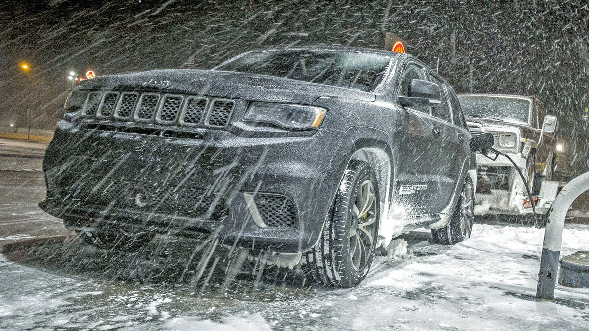 Jalopnik On Twitter Towing An Old Jeep Through An Ice Storm With