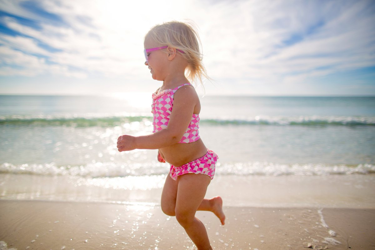 A1 We love when a child's first vacation...