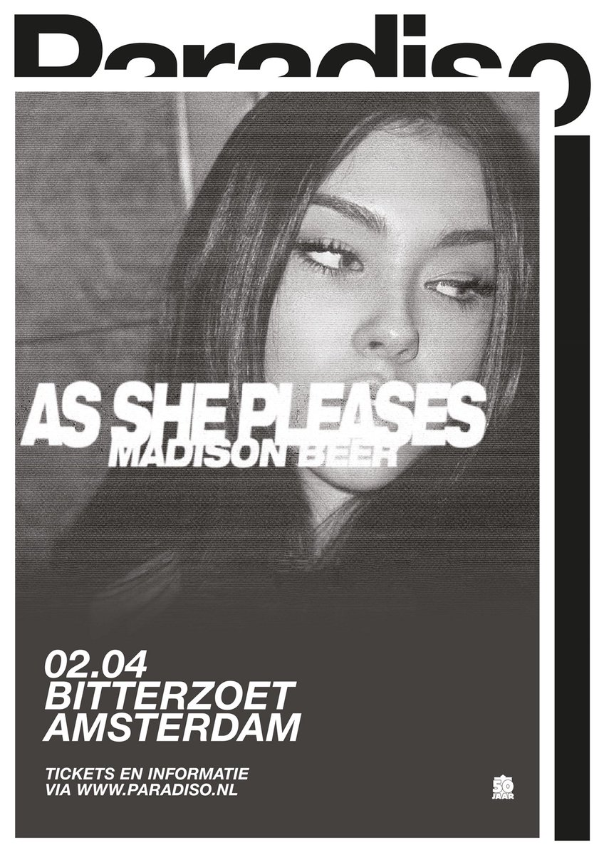 added to the As She Please tour.. netherlands.. Amsterdam. see you soon 👾 tickets on sale 10:00 amCST friday, feb 16. https://t.co/CW5gRVxjgE