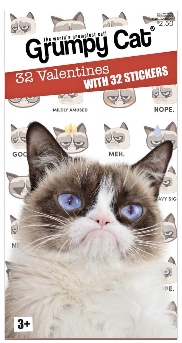 For #ValentinesDay2018 Tell Everyone To Go Away.  Head to @Target for Grumpy Cat Valentines with 32 Stickers! target.com/p/32ct-valenti…